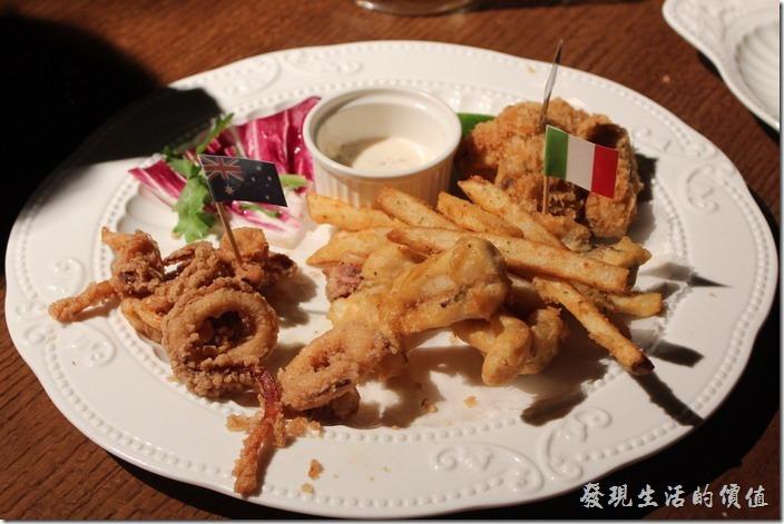 台北-美麗華金色三麥。單點,酥炸海鮮拼盤。