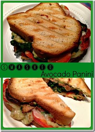 smashed avo panini