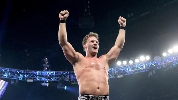 Chris Jericho tras conseguir una victoria