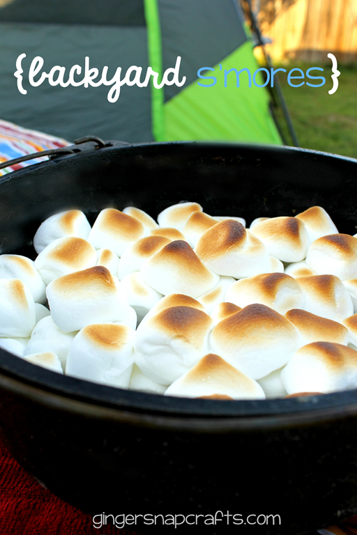 Backyard S'more Recipe at GingerSnapCrafts.com #collectivebias #shop_thumb[3]
