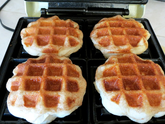 cinnamon sugar waffle biscuits fast cheap easy 2