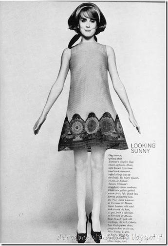 British Vogue 1967 YSL