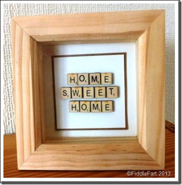 Home Sweet Home Scrabble Shadow box frame