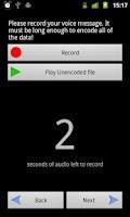 Screenshot of StegDroid Alpha