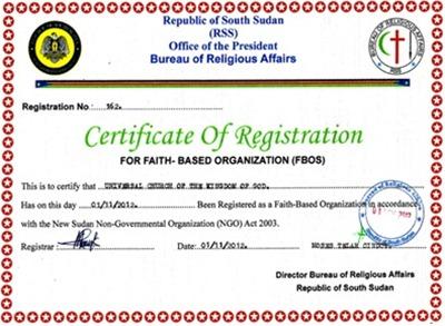 igreja universal sudão certificado1 ok - Priscila e Maxwell Palheta