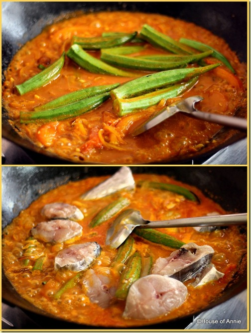 Adding okra and mackerel