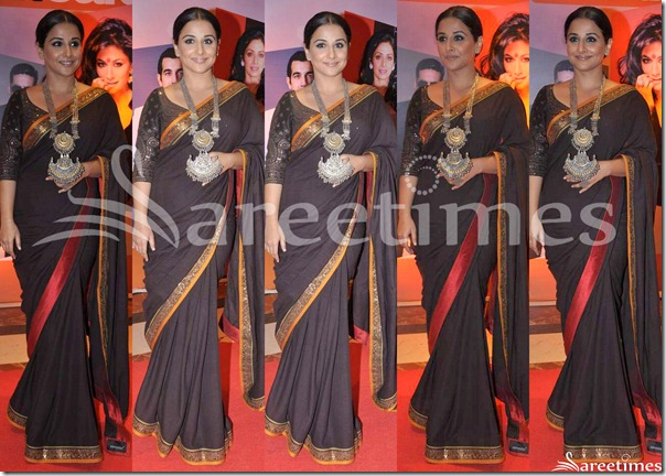 Vidya_Balan_Black_Sabyasachi_Saree