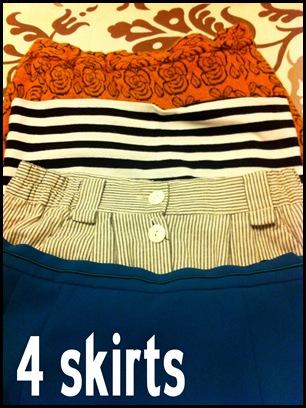 4 skirts