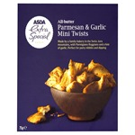 Asda Extra Special All Butter Parmesan & Garlic Mini Twists 75g