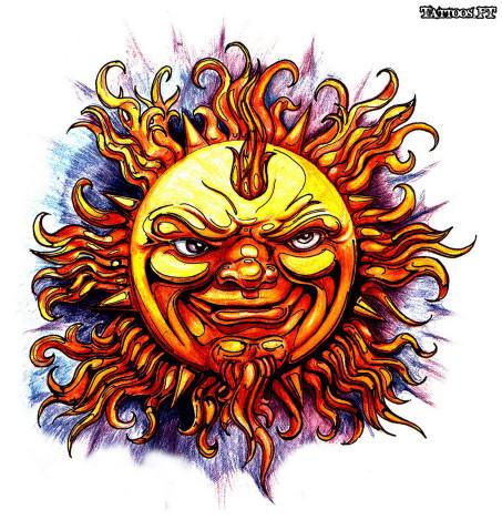 Tattoos Sol E Lua Desenhos Tatuagens