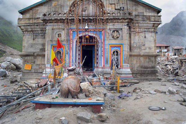 Kedarnath temple after flooding in Uttarakhand, June 2013. Photo: Trawel India