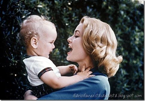 Grace Kelly con il figlio Alberto