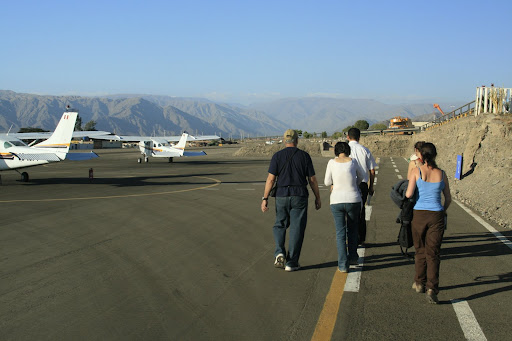 Heading out to our little Cessna, which held a total of six people including the pilot.