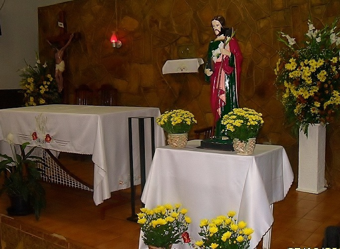Comunidade São Judas Tadeu – Rua Manoel Damas, 67 - Paróquia São Damião de Molokai – Patrocínio-MG
