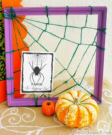 Creepy Welcome Halloween Printables - Fangs for stopping by - The Silly Pearl