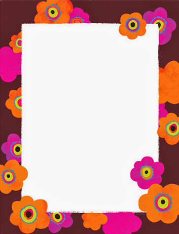 Bright poppies flower spring floral paper stock 2
