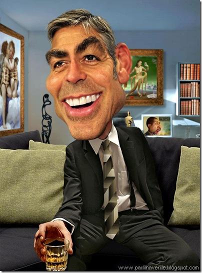 Caricatura George Clooney