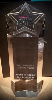 Globe My Super Plan 16th Telecom Asia Awards