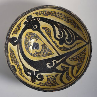 Bowl Iran, Nishapur Bowl, 10th century Ceramic; Vessel, Earthenware, underglaze slip-painted, 3 1/2 x 7 1/4 in. (8.89 x 18.42 cm) The Nasli M. Heeramaneck Collection, gift of Joan Palevsky (M.73.5.130) Art of the Middle East: Islamic Department.