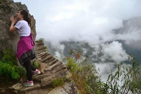Catarare pe Huayna Picchu