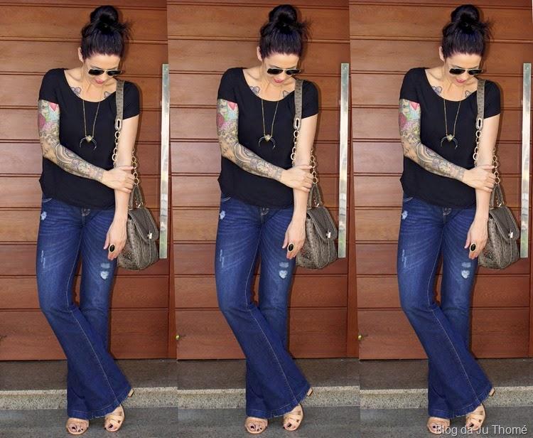 look básico jeans e camiseta