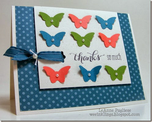 LeAnne Pugliese WeeInklings ColourQ233 Butterfly Thank You Stampin Up