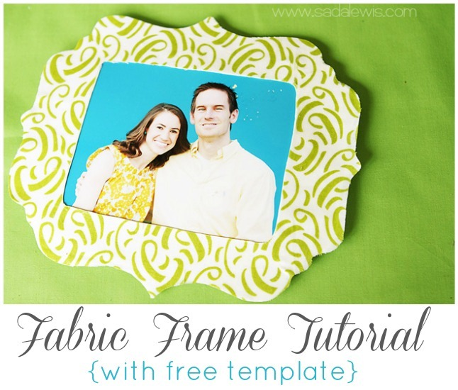 Fabric Frame Tutorial by Sada Lewis