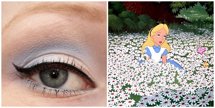 disney alice in wonderland inspired eye makeup look