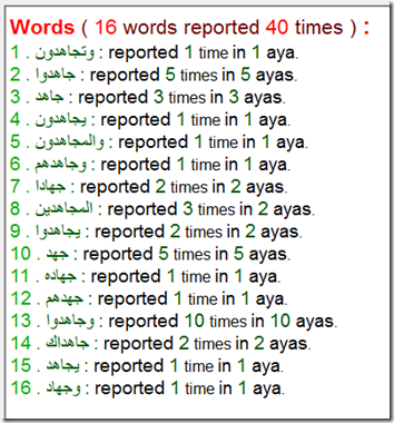 use >> to search by the arabic root