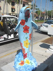 Florida Venice decorated street floral dolphin3