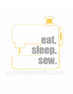 Free Printable Eat. Sleep. Sew. {yellow}