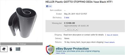 Deda auction end screenshot