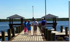 Virginia, Carla, David and Doug on the boatdock at White Oak Shores
