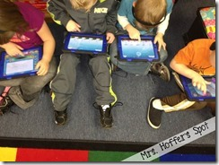 A little view of how they use iPads during centers. Look at how engaged they are!