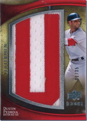 2009 Icons Lettermen Pedroia 1 of 35