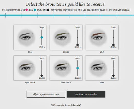 Wantable Brow Tone Preferences