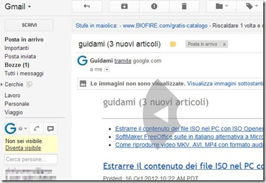 Gmail Mouse Gestures Passare all'email precedente