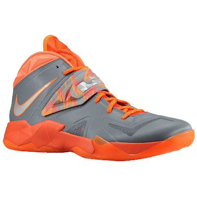 nike zoom soldier 7 gr black orange 1 05 eastbay LEBRONs Nike Zoom Soldier VII $135 Pack Available at Eastbay