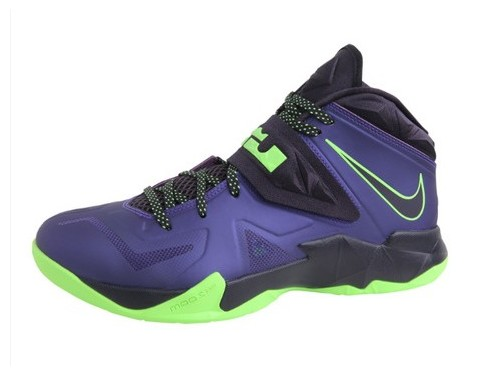LBJ wears Purple Soldier 7 during LeBron James Skills Academy 2013