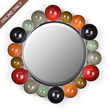 metal bowls mirror