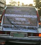 A funeral car precedes the march of protesters in a protest rally marking the third anniversary of the Ampatuan Massacre (Photo by Janess Ann J. Ellao/Bulatlat.com)