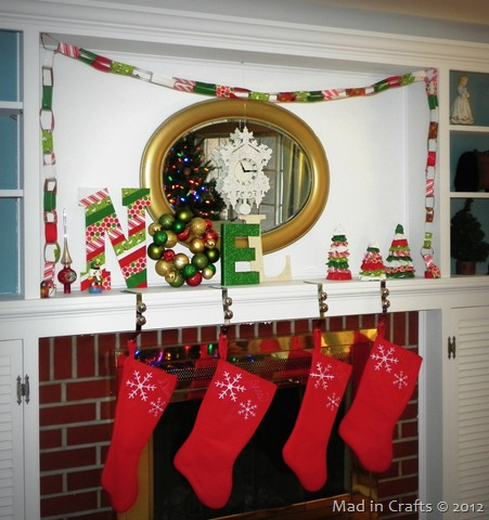 Duck Tape Christmas Mantel