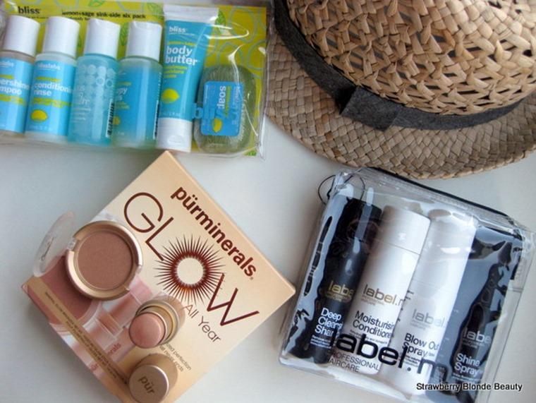 Bliss-Lemon Sage-travel-set-PurMinerals-Glow-Mineral-Powder-Iluminator-mini-set-LabelM-mini-travel-hair-products