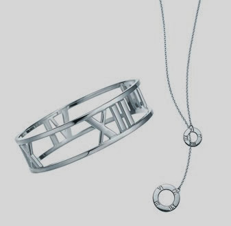 Atlas® bangle and necklace in sterling silver