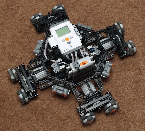 Quad Drive Holomonic Platform using Power Function Control via Mindstorms NXT