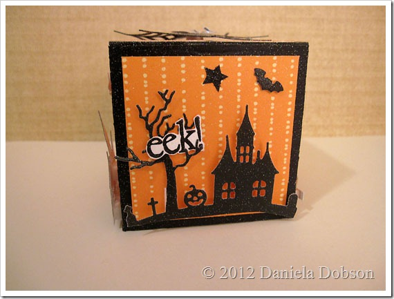 Daniela Dobson altered Halloween box