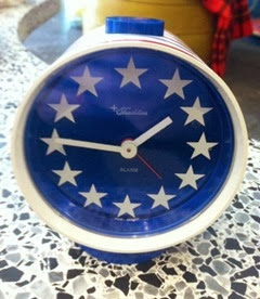 Tradition West Germany patriotic alarm clock front