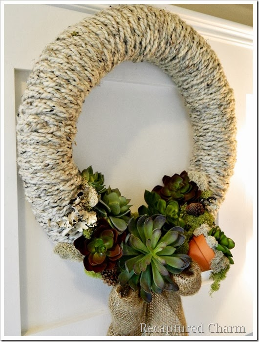 finger knitted wreath 25