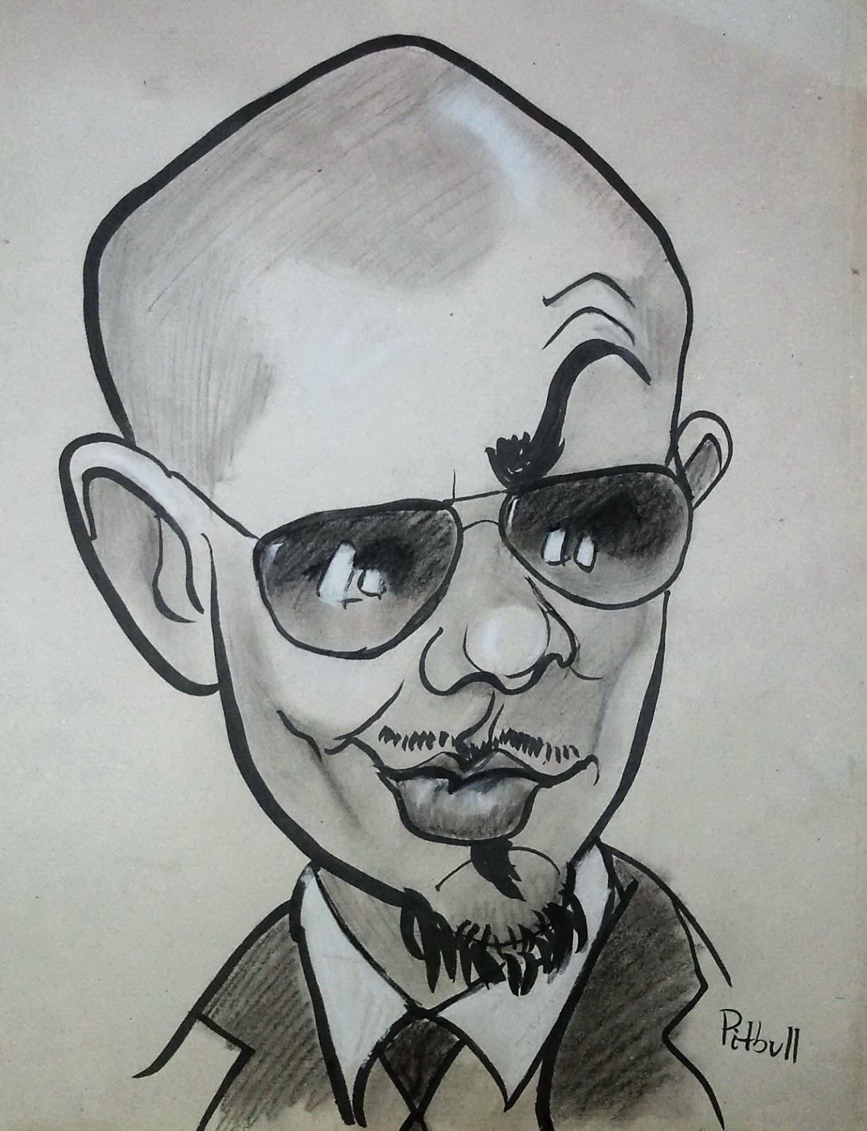 pitbull con jlo | Le Tirano, caricaturas-ilustración.