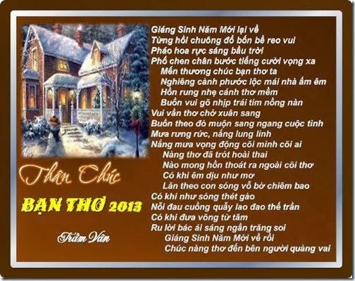 Than Chuc Ban Tho 2014_ TRAM VAN